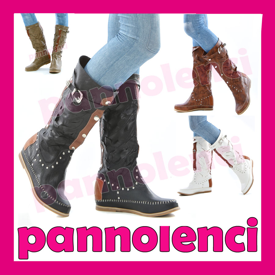 Stivali bassi indianini scarpe donna stivaletti borchie for Interno 1 scarpe
